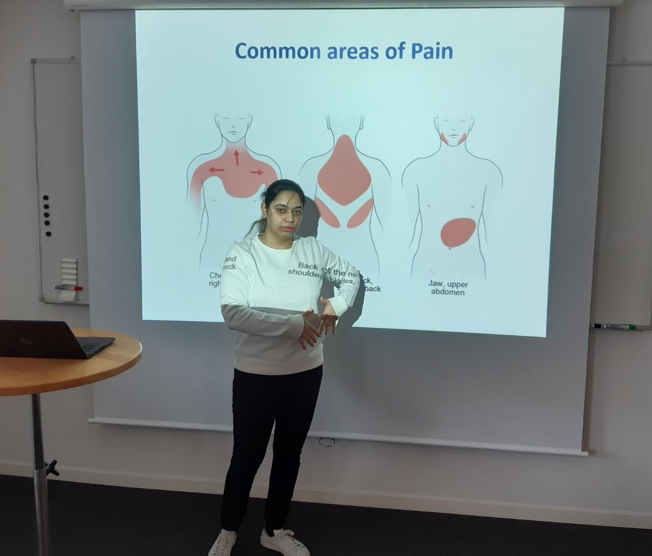 Common areas of Pain : Back of the Neck & Shoulder Blades